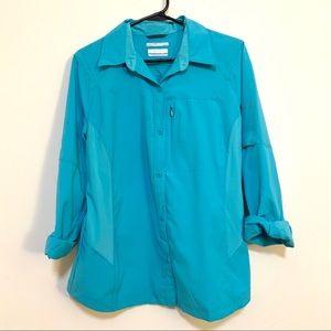 Columbia Omnishade Blue Shirt
